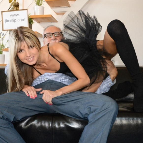 Stepsister giving the best blowjob to her stepbrother