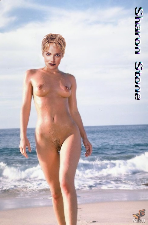 You uneasy Sharon stone naked at beach with