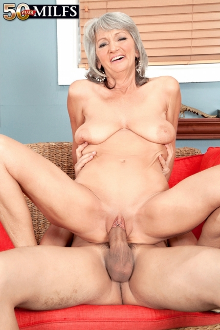 60yr old granny takes her first panty cumshot 8