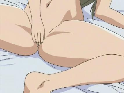 The anime pussy rubbing